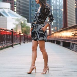 Striped Romper Casual, Sexy Vacation & Club-wear